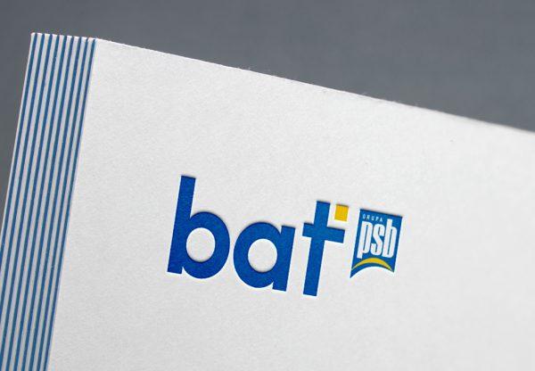logotyp bat sklepy budowlane projekt