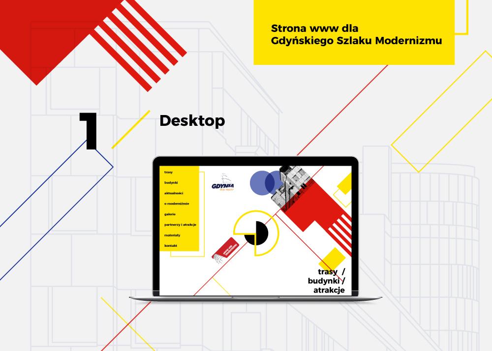 projekt strony www modernizm Gdynia