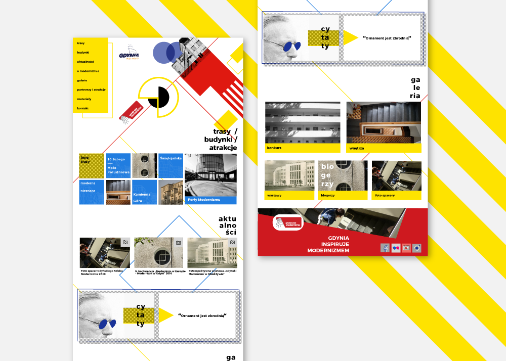 projekt strony www Gdyński Szlak Modernizmu Spectro