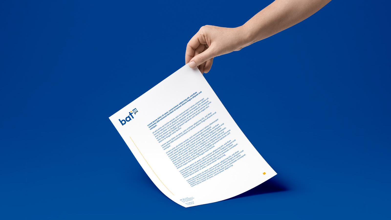 bat identyfikacja wizualna papier firmowy