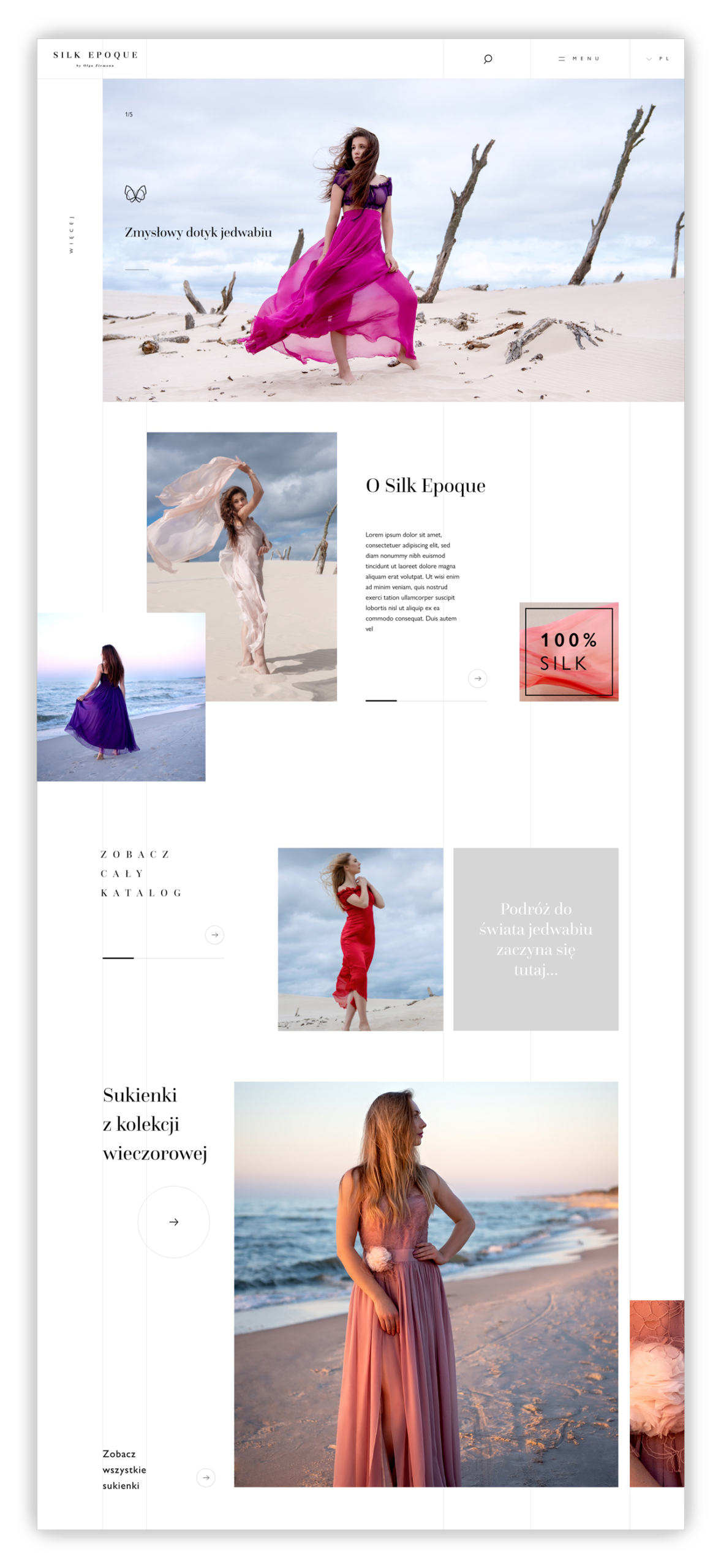 projektowanie stron www marka fashion