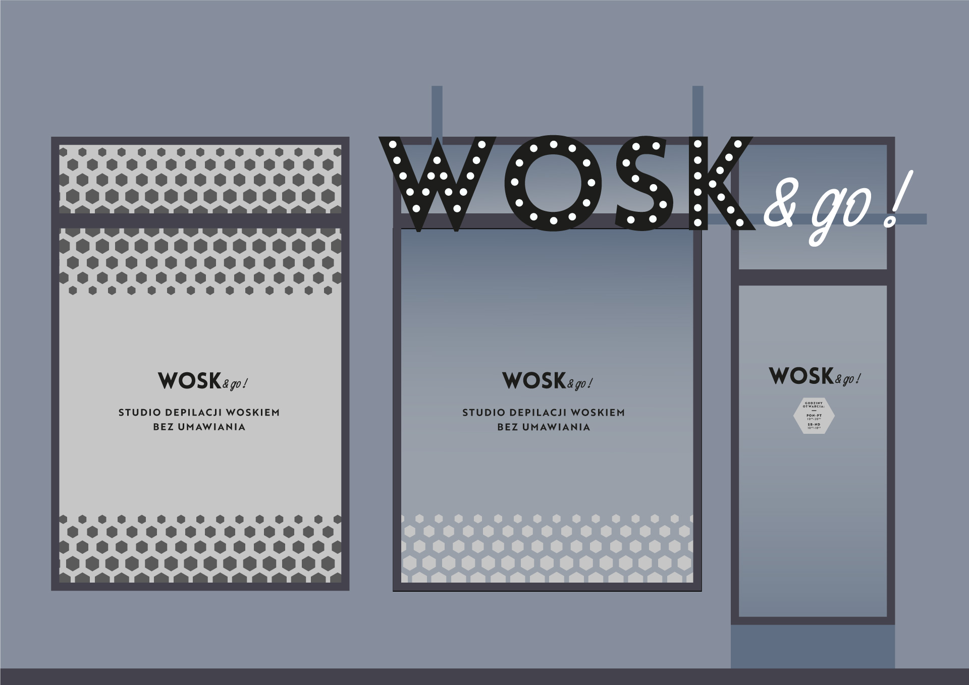 projekt oklejenia witryna Gdańsk studio graficzne