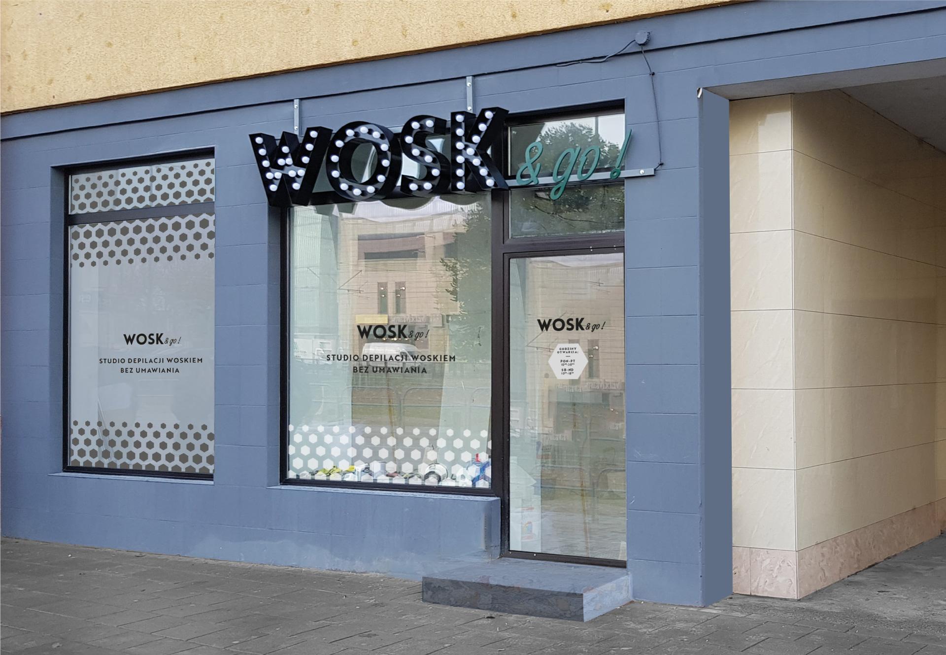 projekt oklejenie witryny Gdańsk lokalnie design