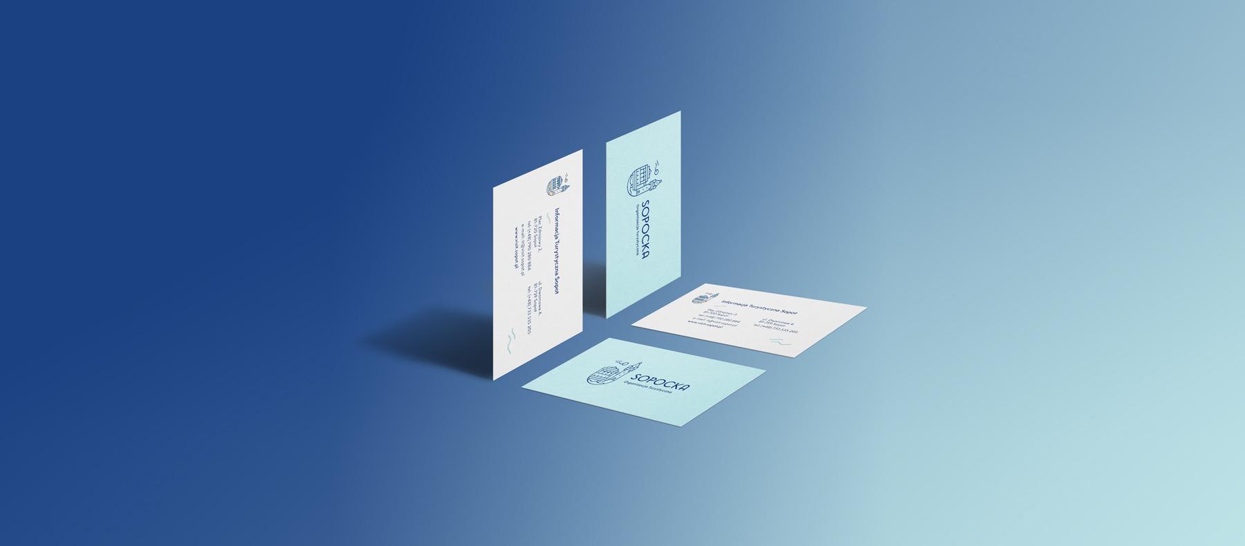 projekt wizytówki identyfikacja wizualna modern
