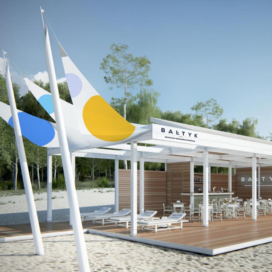 Gdańsk studio graficzne beach bar