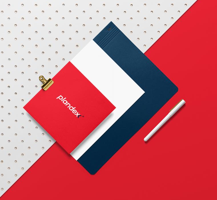 identyfikacja wizualna projekt logo Gdańsk marka Plandex