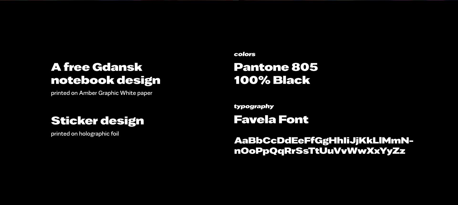 projekt graficzny typografia font favela modern