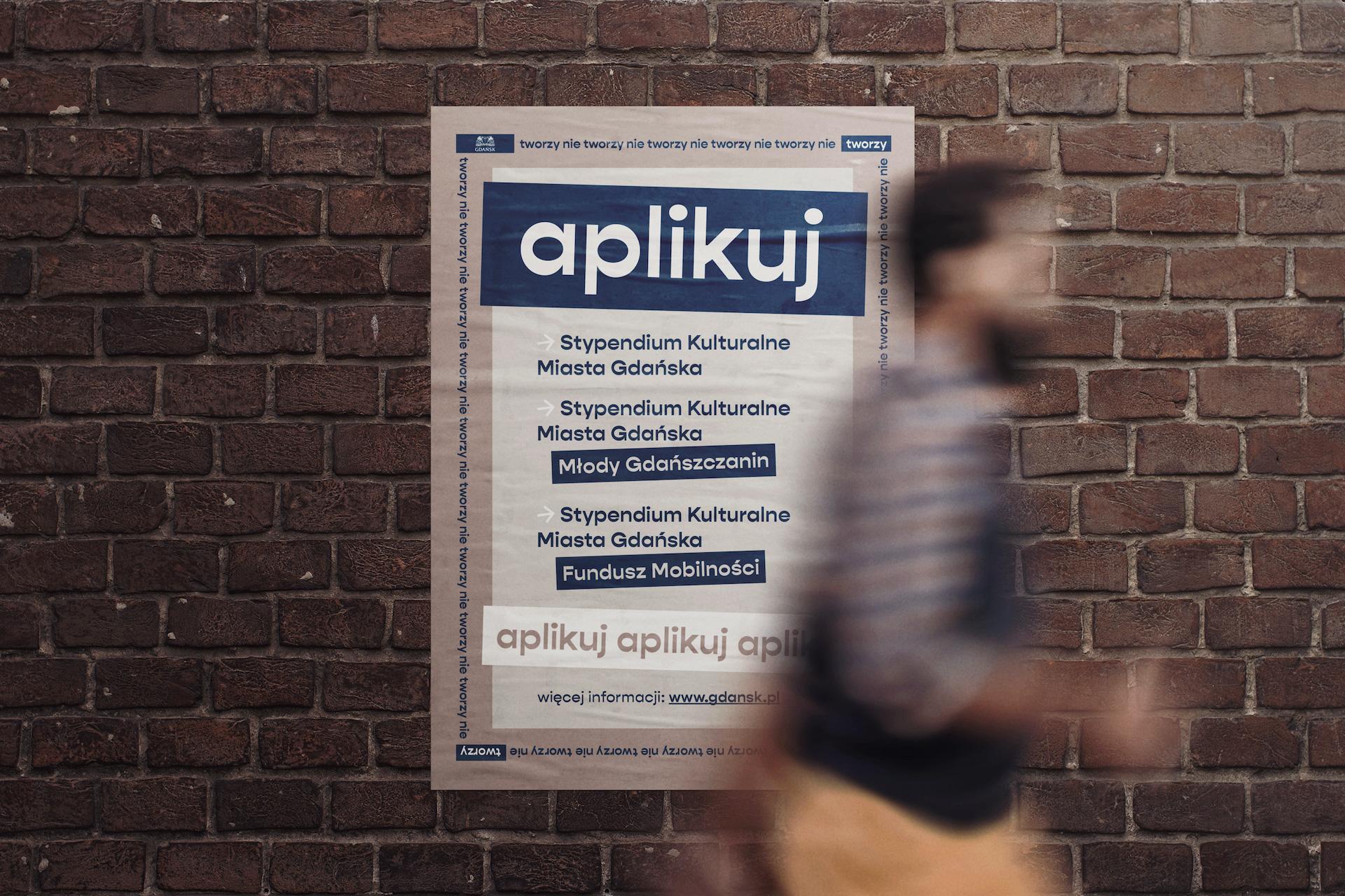 Gdańsk Trójmiasto studio Spectro plakat artystyczny