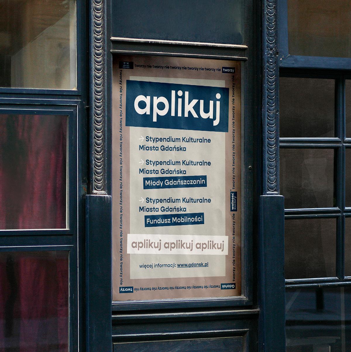 Urząd Miasto Gdańsk Instytucja Projekt kultura plakat