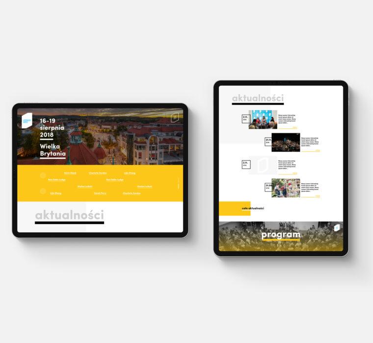 web design projekt dla kultury instytucji literacki sopot