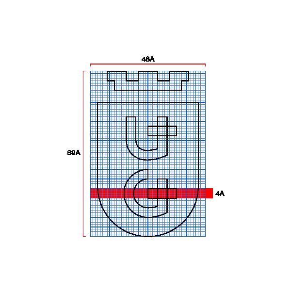 projekt logo instytucja siatka modularna UG